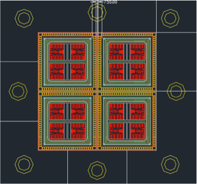 """This Intel chip, called a """"massive antenna array,"""" includes 64 antennas and can be expanded to 256,allowing ultra-high-capacitymillimeter-wavefrequencies to be sent in specific directions."""
