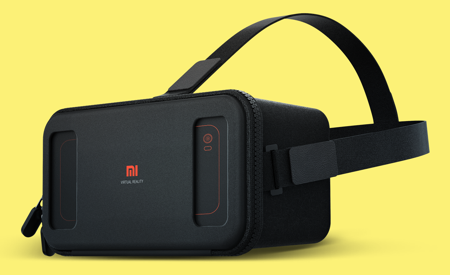 The Mi VR Play has a soft cover that zips closed to hold a phone in place.