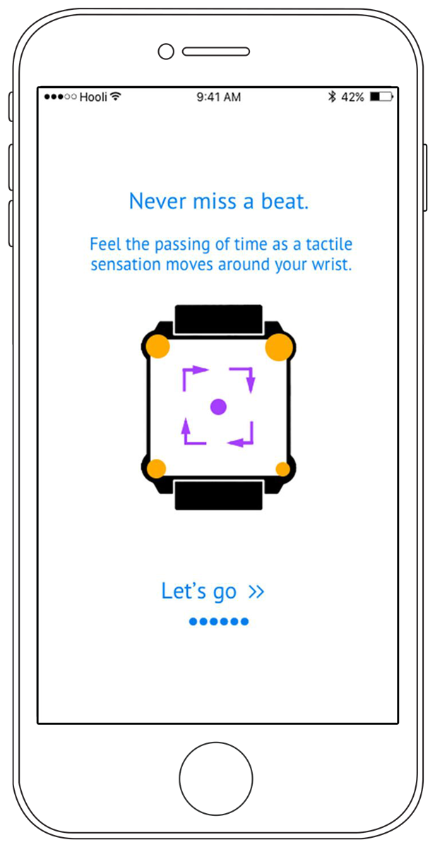 Users interact with the Moment wristband primarily through an app, which will add new functionality as developers create more applications for the technology.