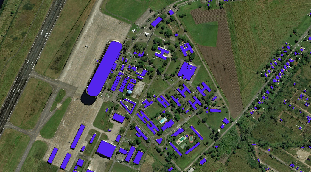 Software will be trained to label buildings in satellite images using a dataset of images like this one.
