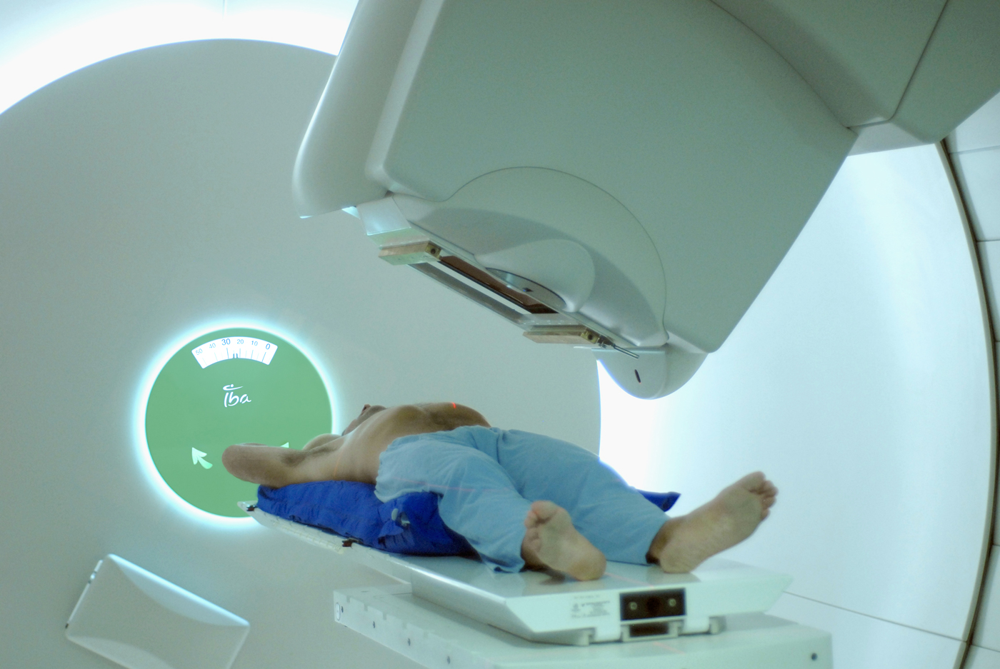 Proton therapy equipment from Belgium's IBA. The company will be equipping a new center in Qingdao, China.