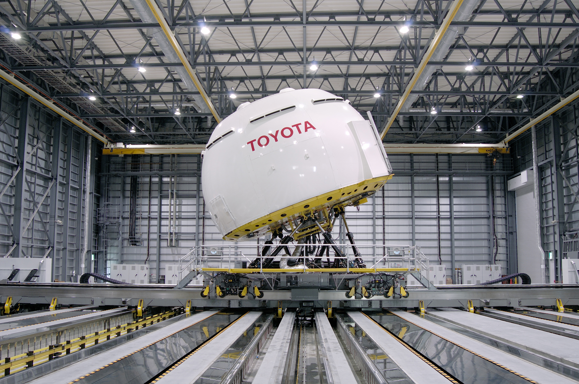 A driving simulator created by Toyota near Mount Fuji in Japan.