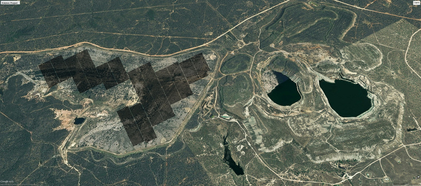 The proposed solar farm at Kidston, next to the old gold mine.