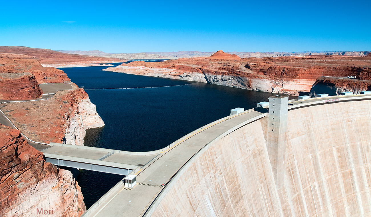 The Hoover Dam in Nevada.