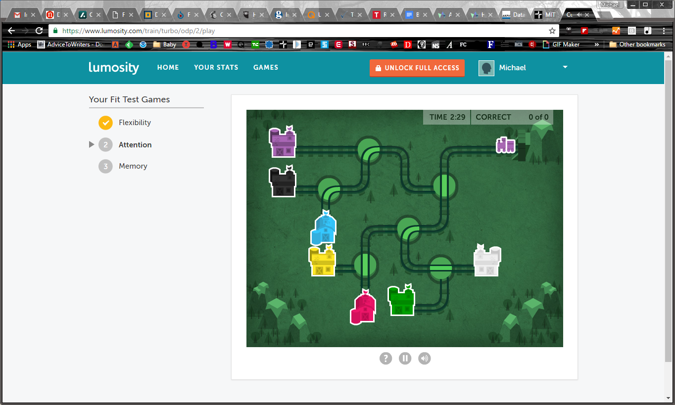 Lumos Labs's game, Lumosity, includes tests designed to measure your attention.