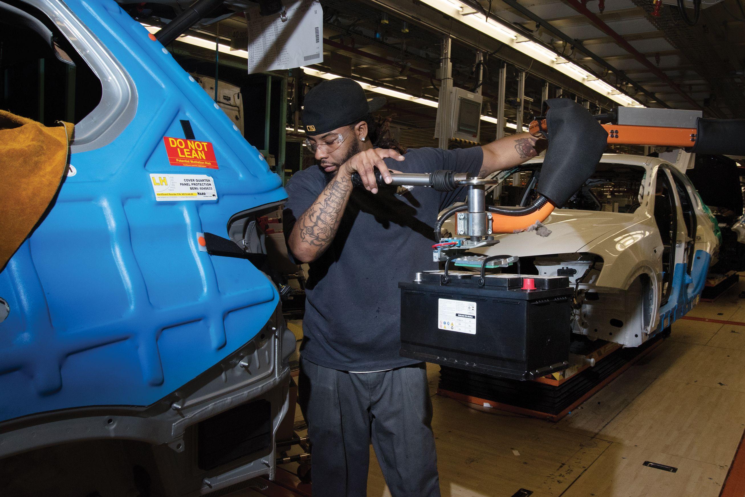 Assembling cars at BMW's factory in Greer, South Carolina.
