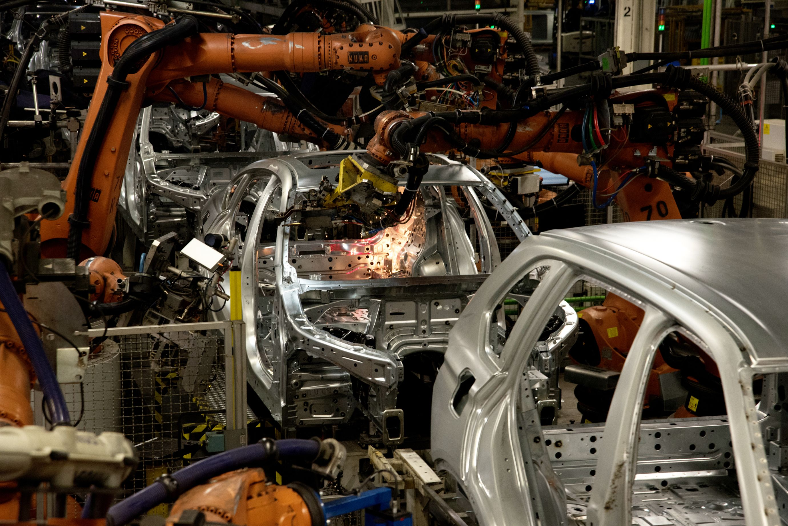 Building cars in the BMW plant in Greer, South Carolina, the company's largest factory in the world. (1 of 7)