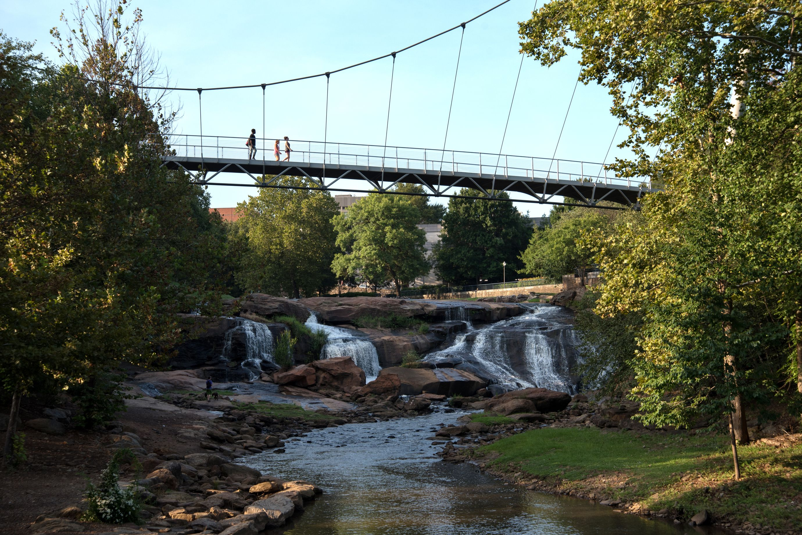 The pedestrian Liberty Bridge spans the Reedy River in downtown Greenville. (10 of 10)