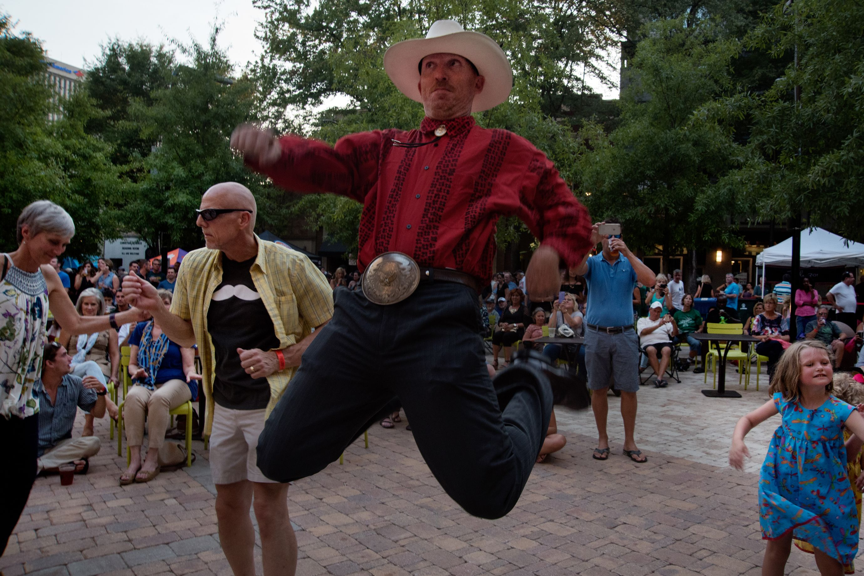 Residents gather to listen to live music and dance at the free weekly concert in downtown Greenville. (5 of 10)