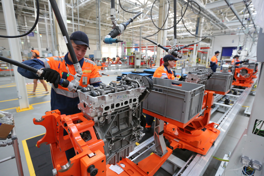 Production at Ford Motor Company's new engine plant in Elabuga, Russia, will be 95 percent automated.