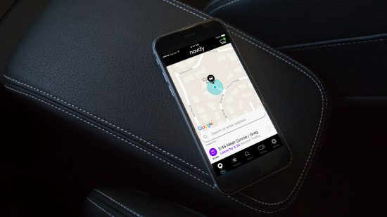 GPS navigation appears on the display after logging a destination into an app.
