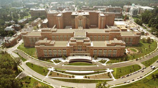 The U.S. National Institutes of Health, located in Bethesda, Maryland, is the largest public funder of biomedical research in the world.