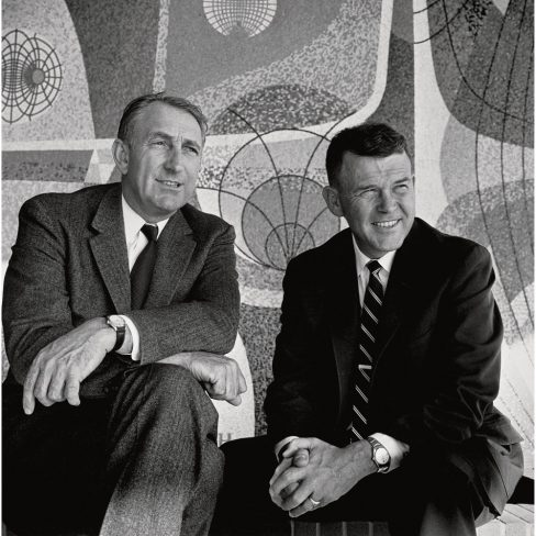 """A new book argues that Silicon Valley companies should study how """"the HP Way""""—the management style of Dave Packard (left) and Bill Hewlett (right)—helped the company in good times but became problematic when things got tough."""