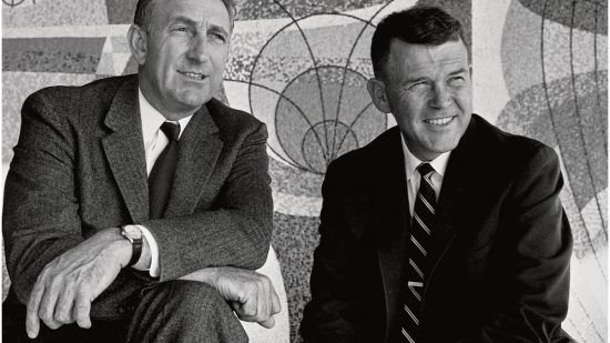 "A new book argues that Silicon Valley companies should study how ""the HP Way""—the management style of Dave Packard (left) and Bill Hewlett (right)—helped the company in good times but became problematic when things got tough."