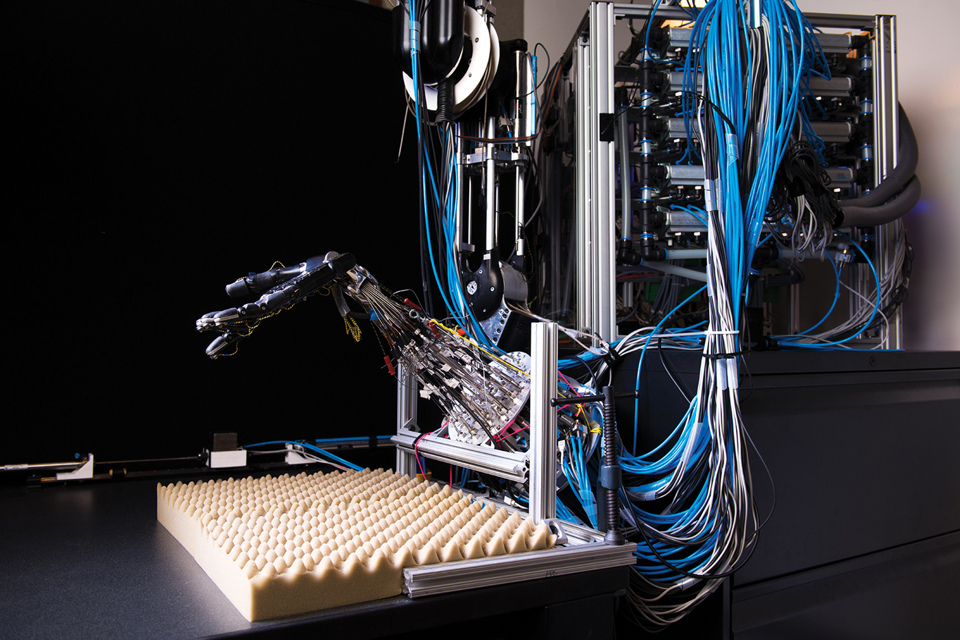 Sergey Levine has demonstrated that his algorithms can help a robotic arm teach itself how to manipulate various objects.