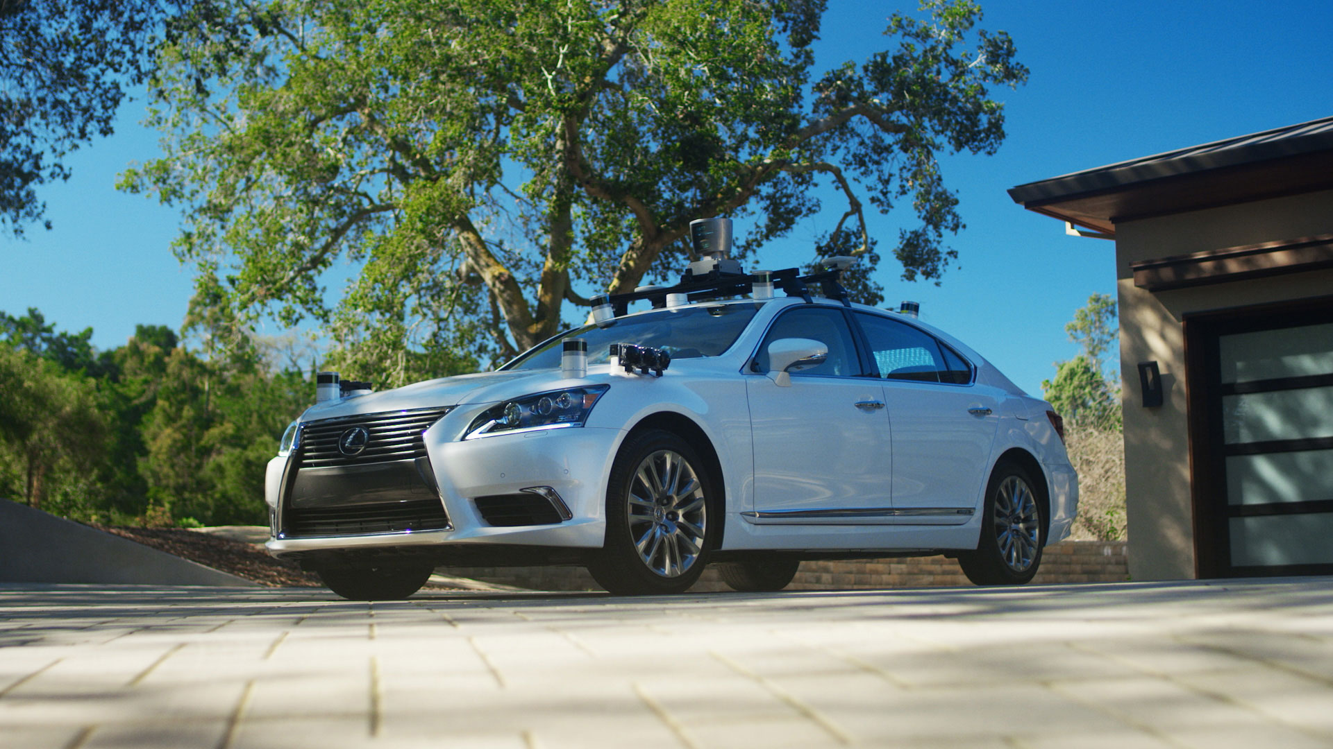 This modified Lexus is used by Toyota to test autonomous driving software.