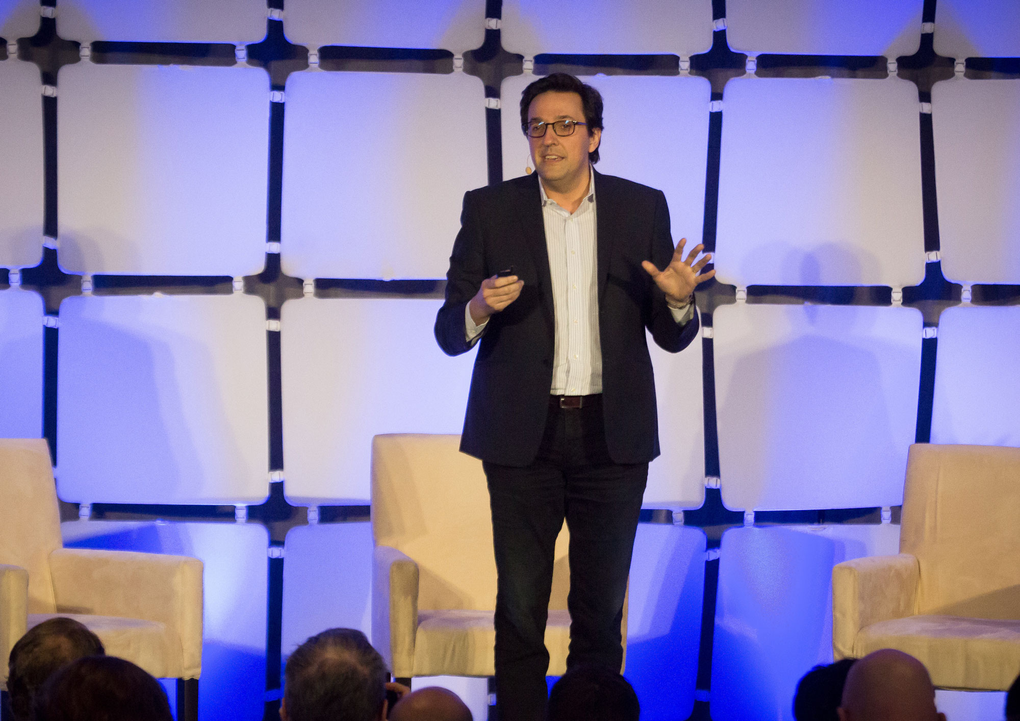 Dario Gil, vice president of science and solutions at IBM Research, at EmTech Digital 2017.