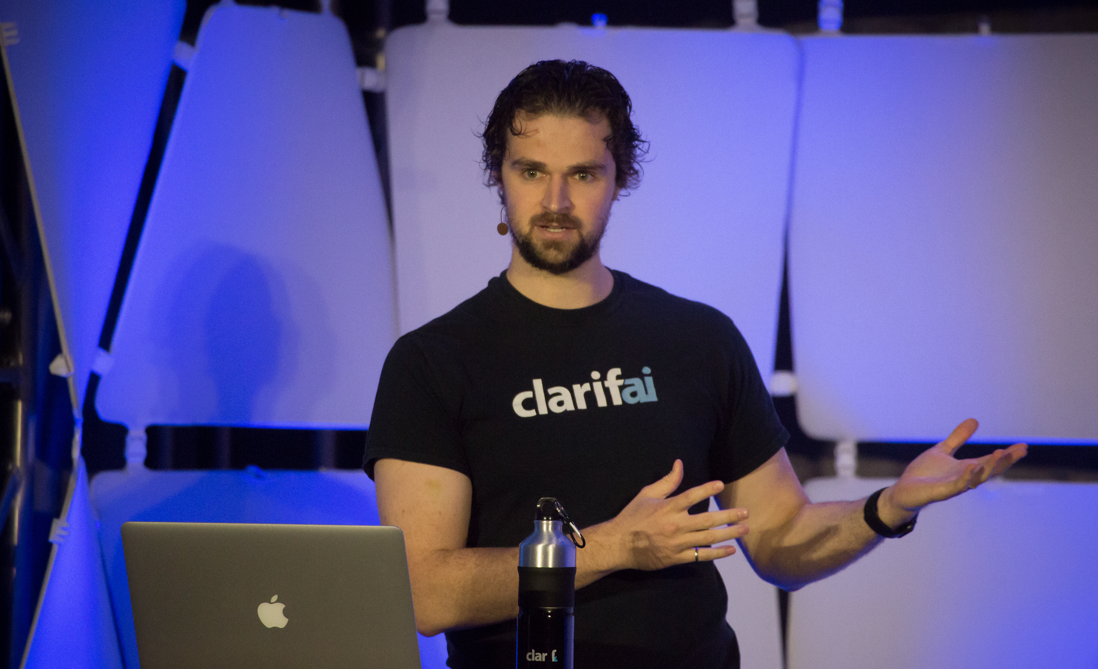 Clarifai CEO Matthew Zeiler at EmTech Digital 2017 in San Francisco.