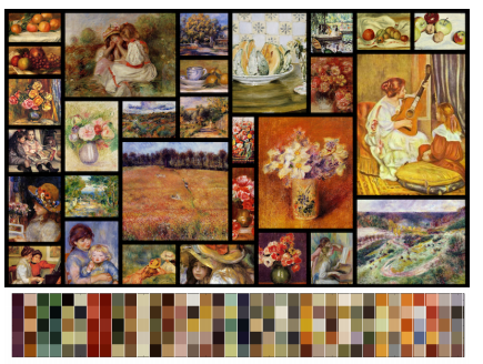 The color palettes extracted from fine art paintings.