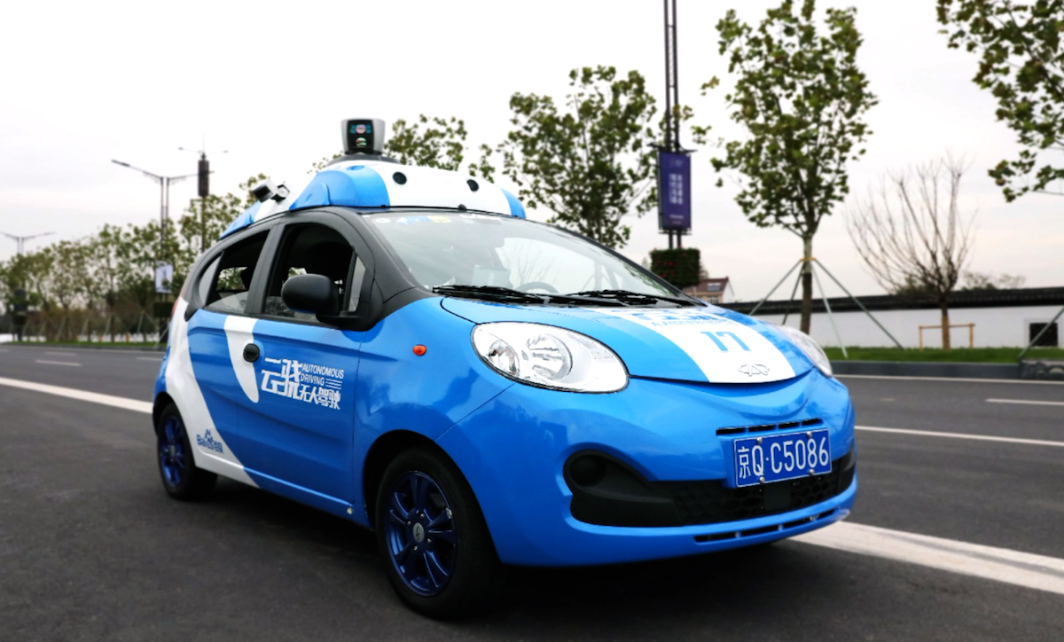 One of Baidu's experimental self-driving cars.