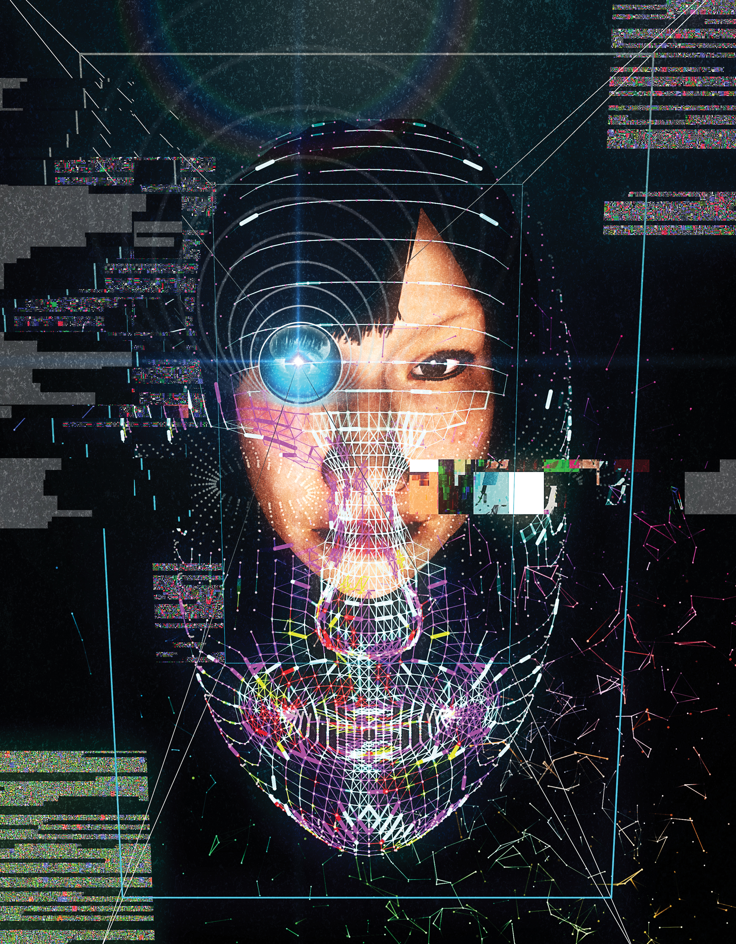 """<b><a href=""""https://www.technologyreview.com/s/603494/10-breakthrough-technologies-2017-paying-with-your-face/"""">Paying With Your Face</a></b> <br> Illustration by Yoshi Sodeoka"""