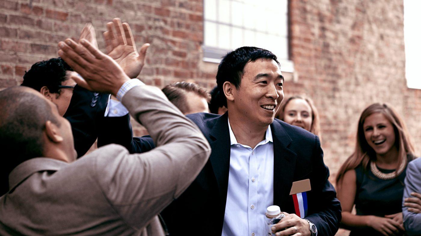 米大統領候補に名乗りを上げた起業家、ベーシックインカム導入を訴え