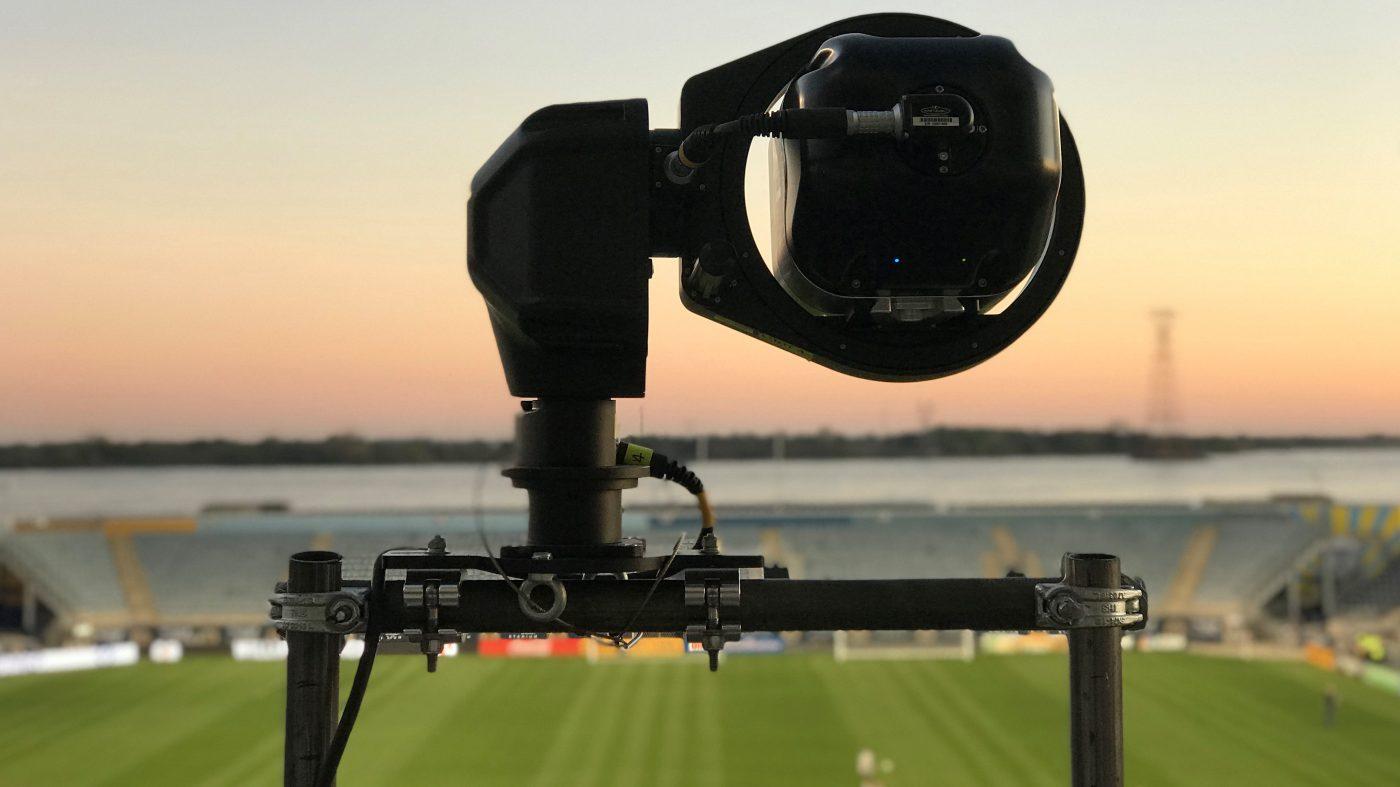 試合中の選手を自動追跡、ニコン子会社がロボット・カメラ