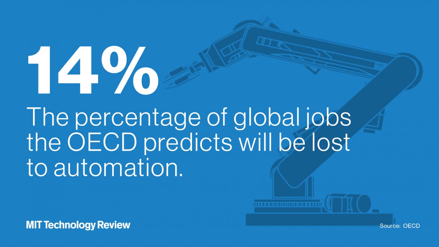 ロボットやAIに奪われる仕事は14%、OECD予測