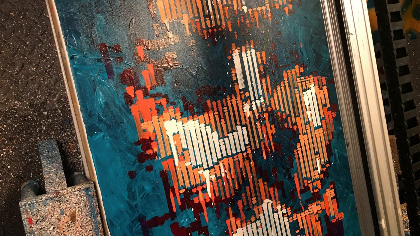 ロボット画家もAIで進化、美しい抽象画に賞賛