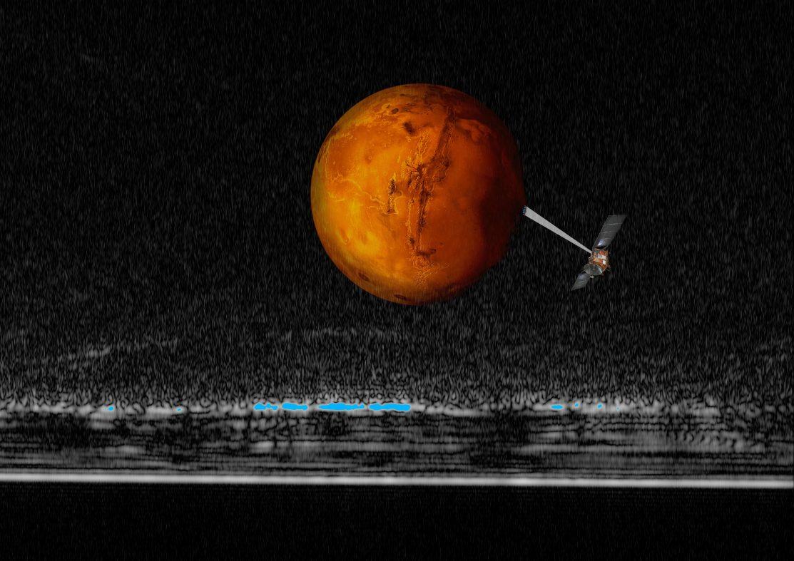 火星に「湖」、大量の水が存在か? イタリアの研究チームが発見