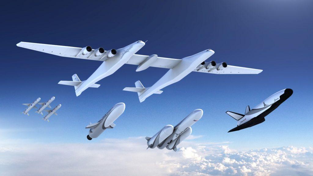 巨大飛行機で空中打ち上げ、ストラトローンチがロケット発表