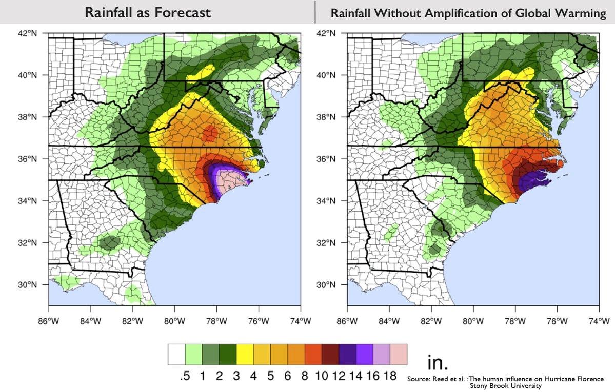 巨大ハリケーンの降雨量、地球温暖化で「倍増」か