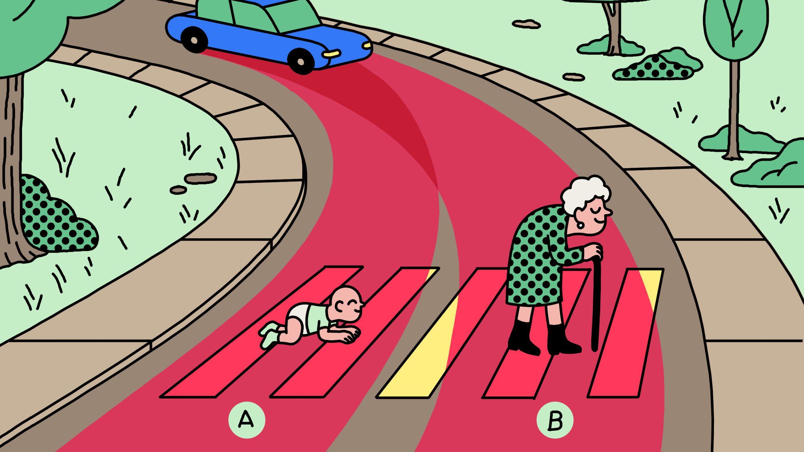 自動運転車は誰を救うべきか 「究極の選択」国民性に違い