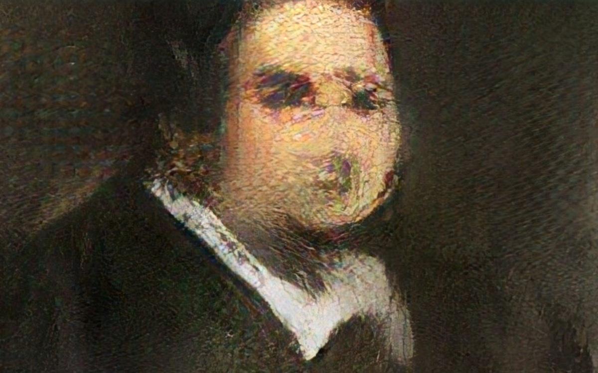 AIが描いた絵画がオークション初登場、43万5000ドルで落札
