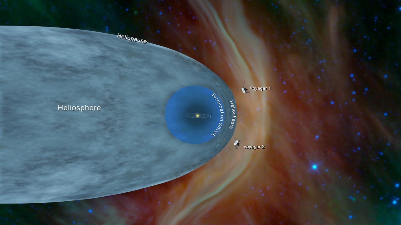 打ち上げから40年以上、ボイジャー2号が太陽圏を離脱