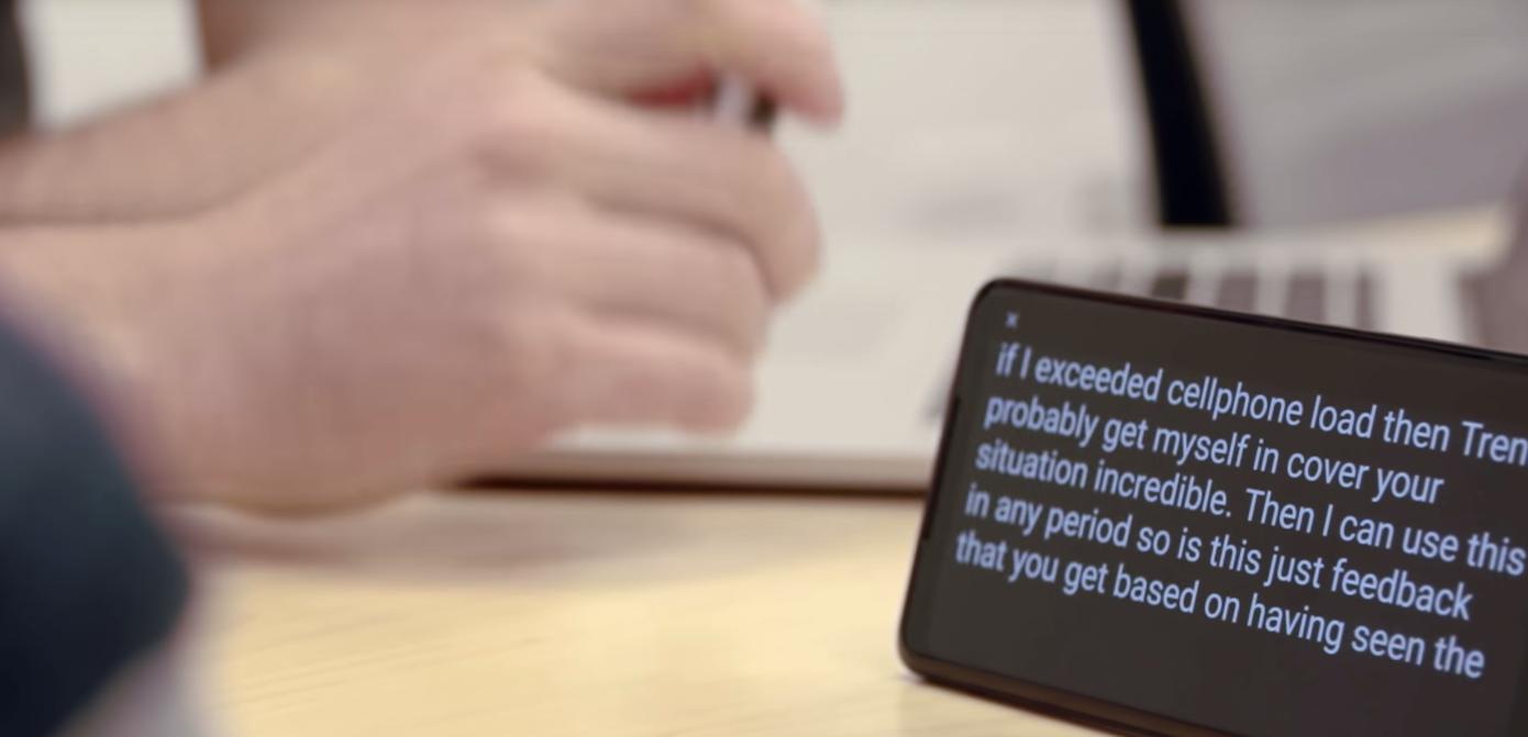 グーグルが聴覚障害者向けアプリを発表、文字起こしなど