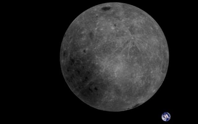 中国の人工衛星が撮影した「月の裏側から見た地球」