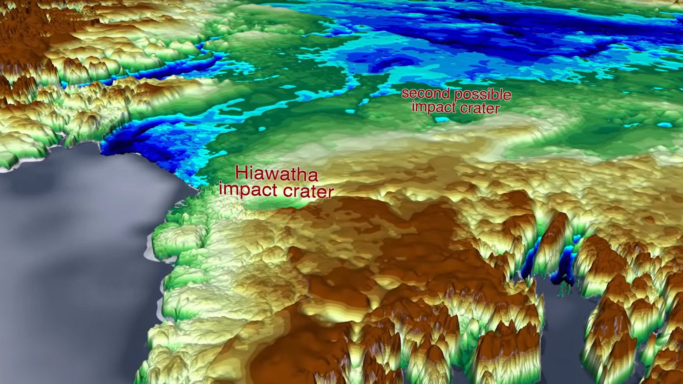 グリーンランドの氷の下に2つめの巨大クレーター、NASAが発見