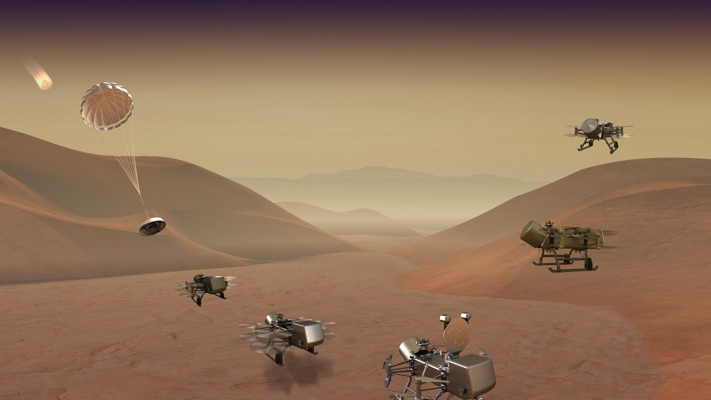 NASAが土星の衛星タイタンにドローン派遣、生命の謎解明へ