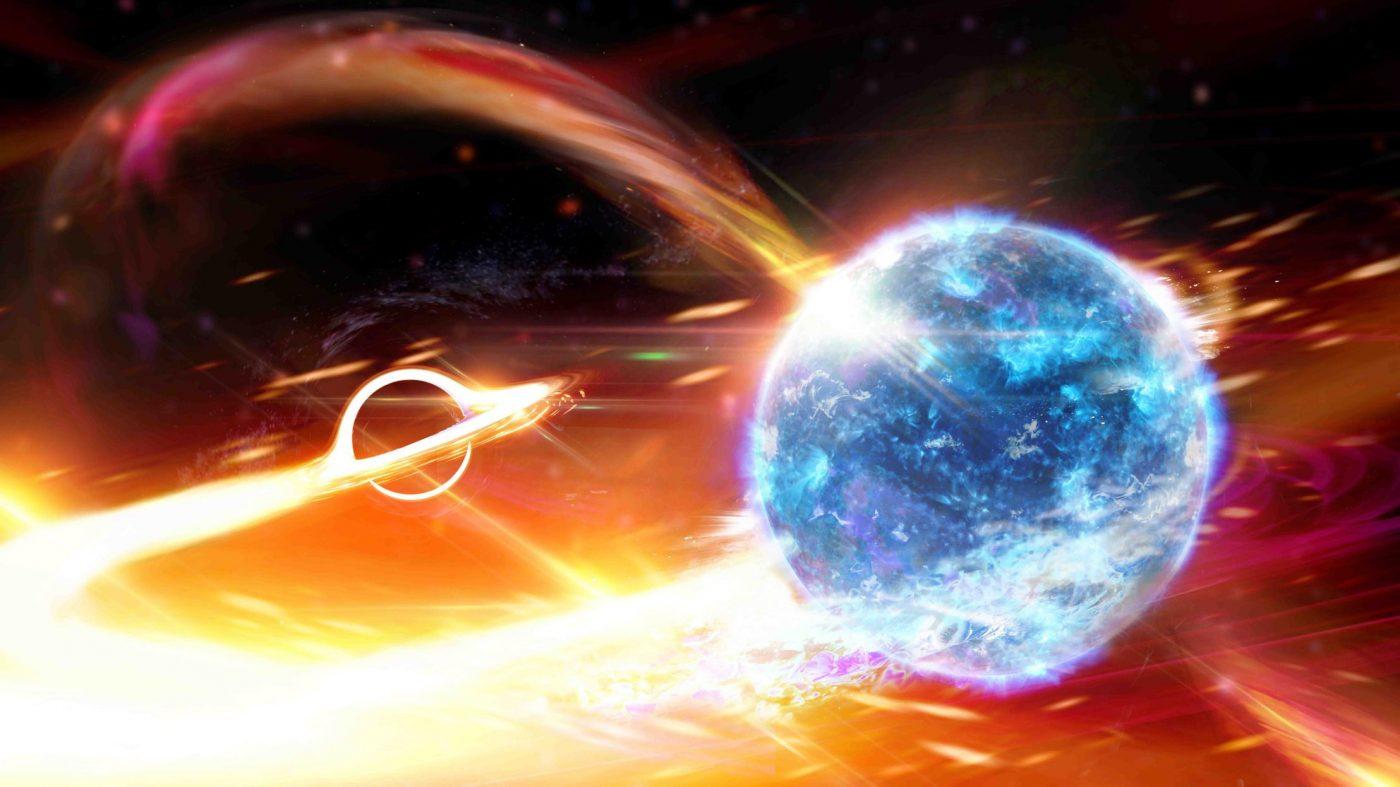 ブラックホールが中性子星を飲み込んだときの重力波、初検出か