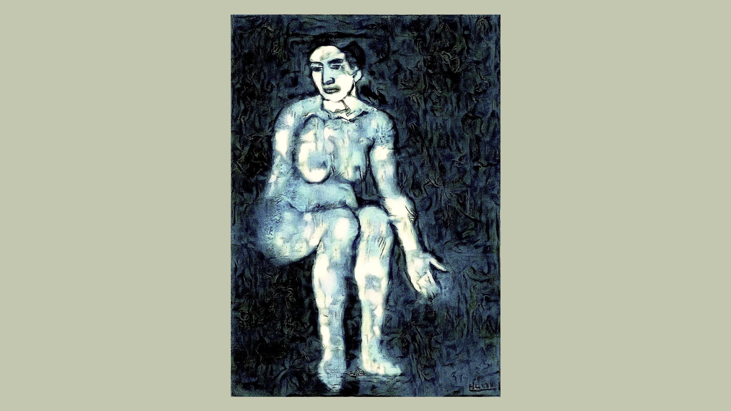 ニューラル・ネットが描き出した、ピカソ「青の時代」幻の作品