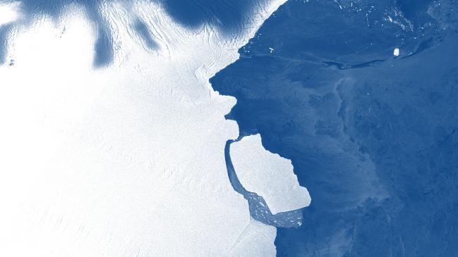 南極の棚氷から巨大氷山が分離、気候変動とは「関連なし」