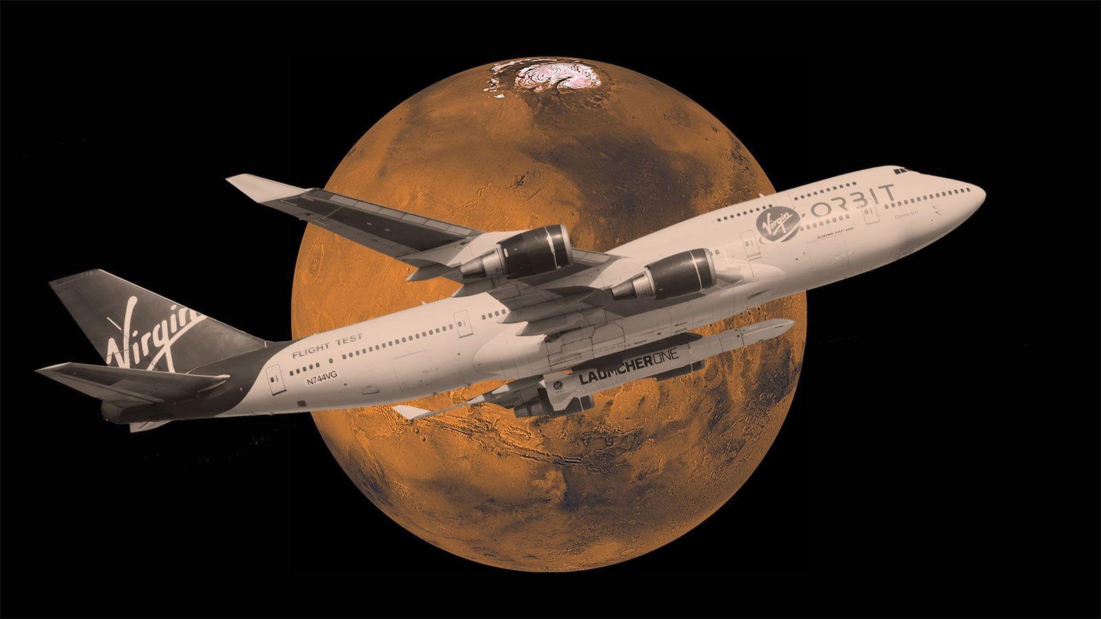 ヴァージンが民間初の火星無人ミッション、空中発射で2022年にも