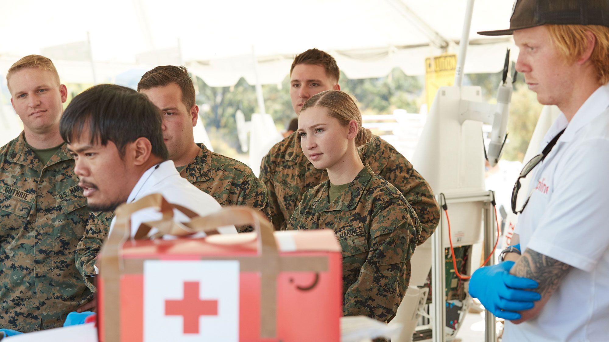 米国海兵隊、軍事演習でドローン医薬品配達をテスト
