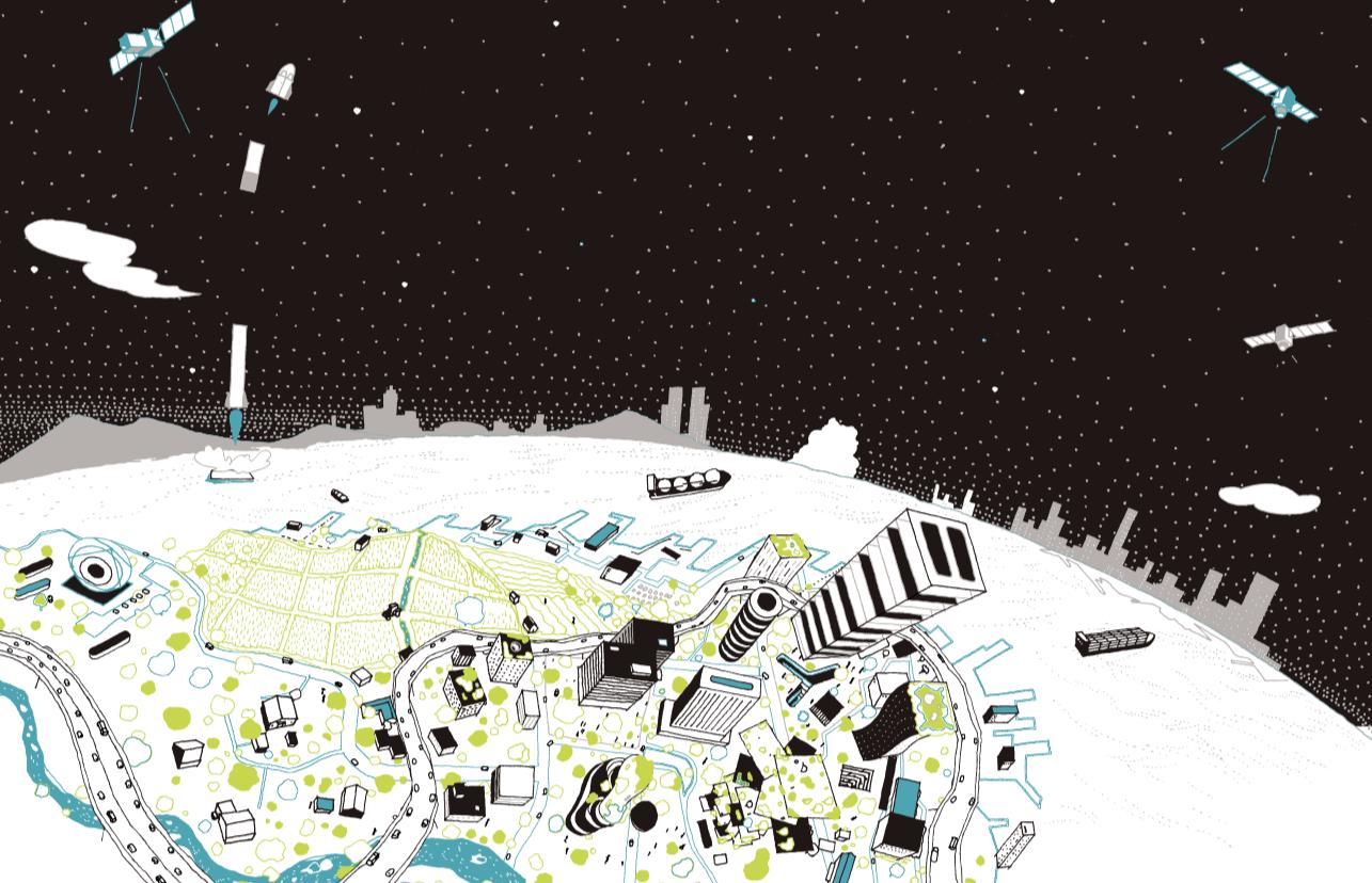 宇宙ビッグデータで描く、 近未来社会地図