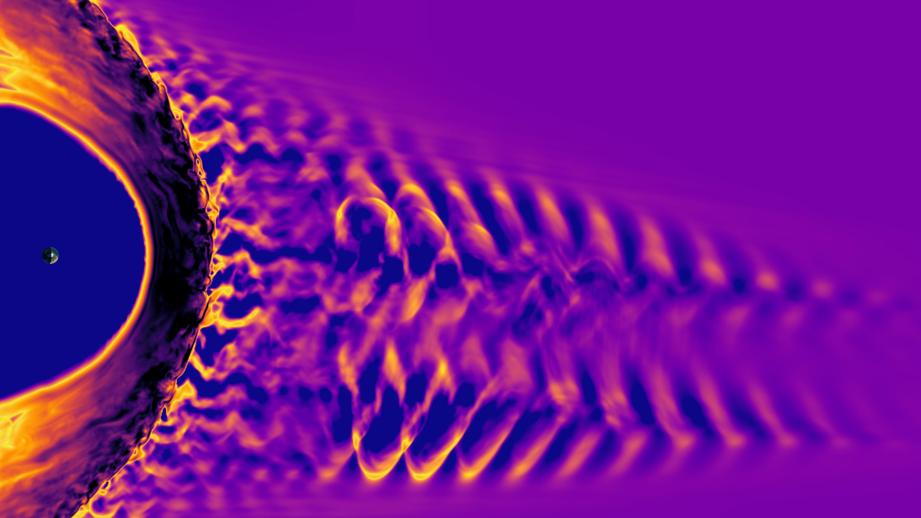 太陽嵐が地球磁場にぶつかる「音」、ESAが公開