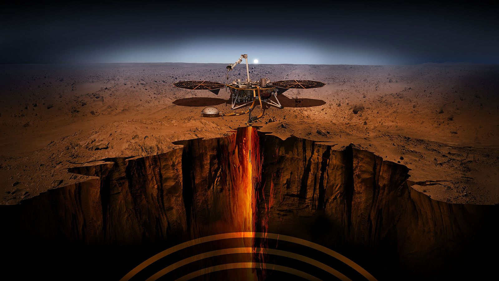 NASAの火星探査機インサイトが初成果、活発な地震活動を観測
