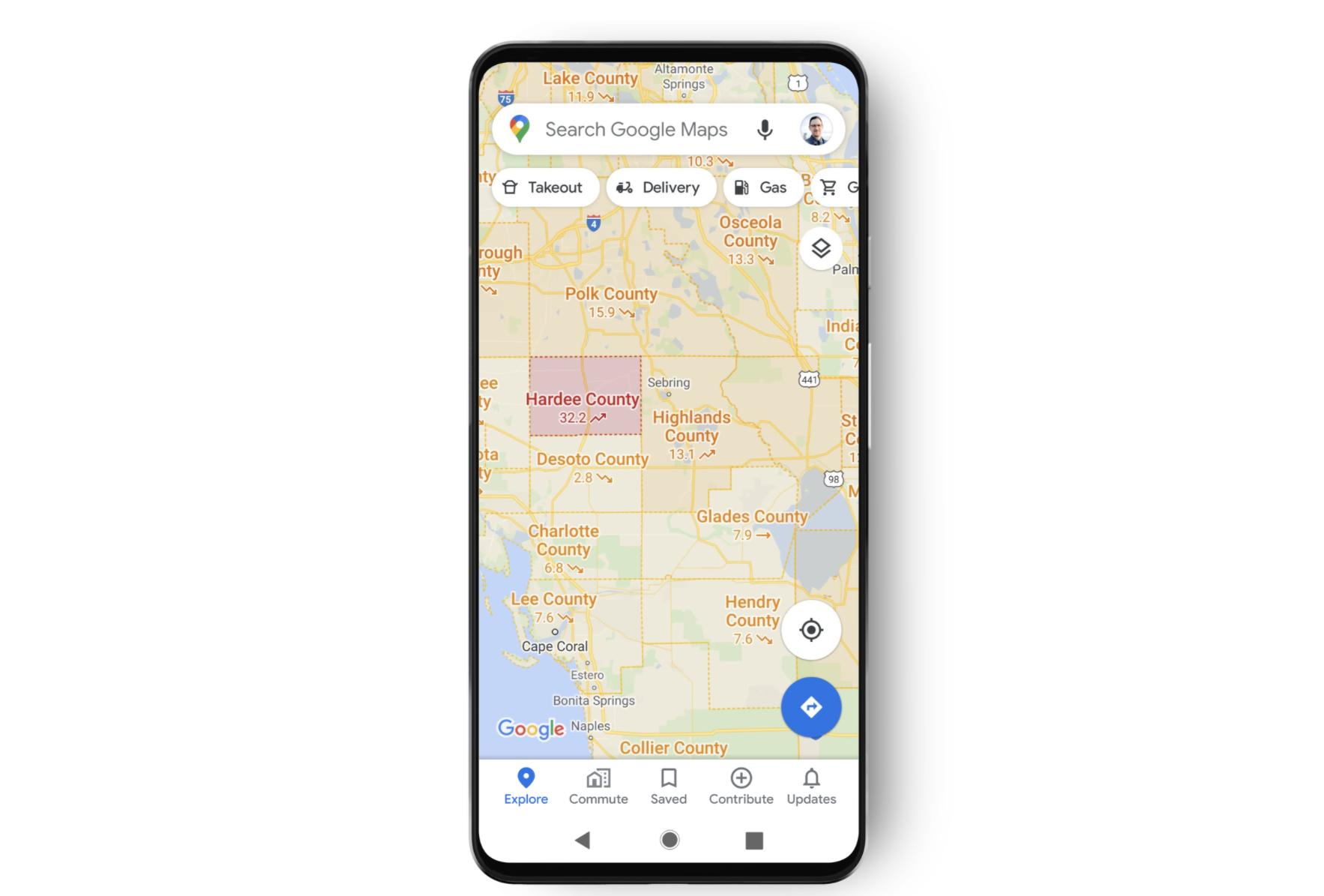 グーグル・マップに新型コロナ感染者数を表示する新機能