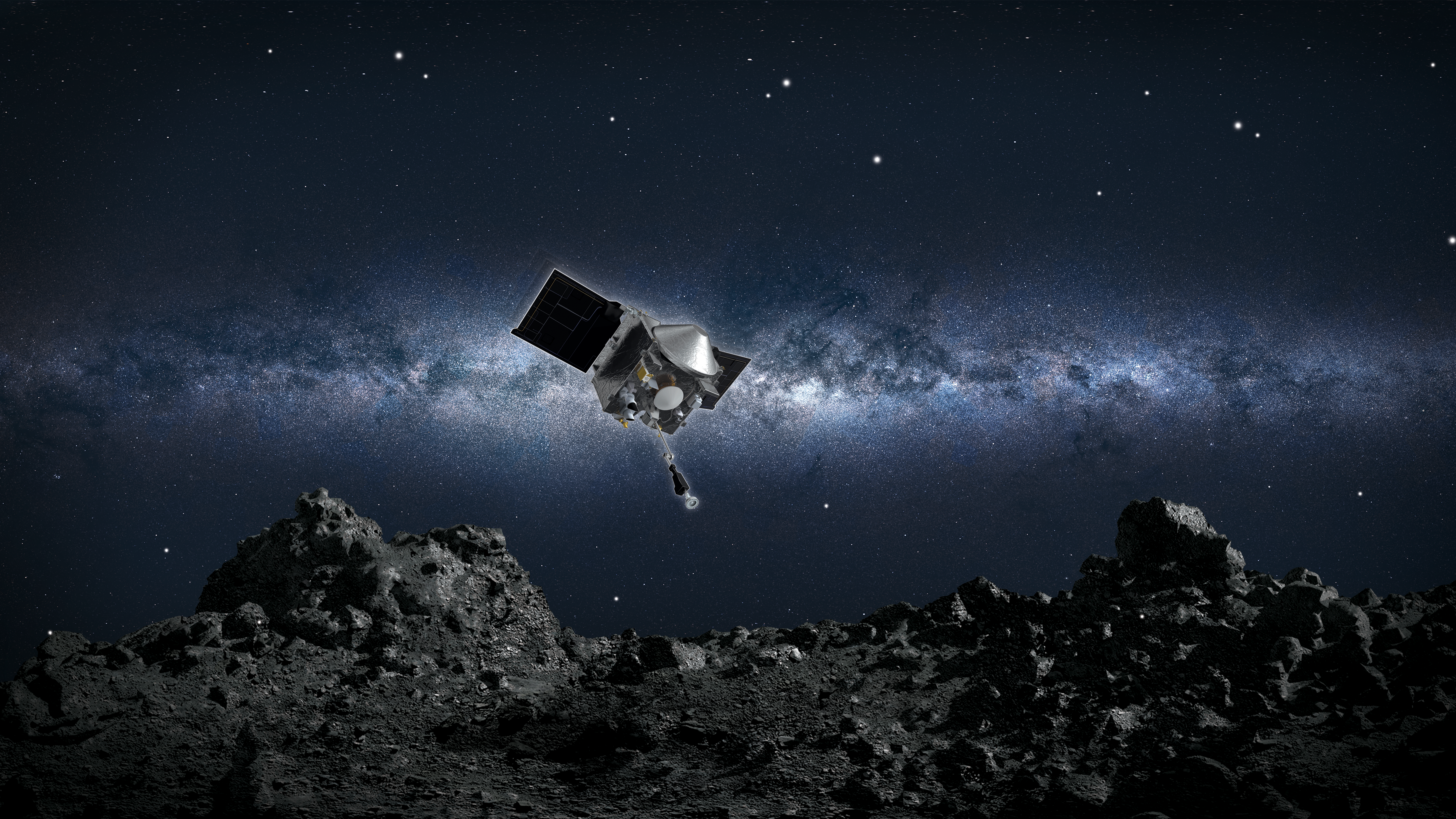 NASA探査機、小惑星「ベンヌ」の岩石サンプル採取へ