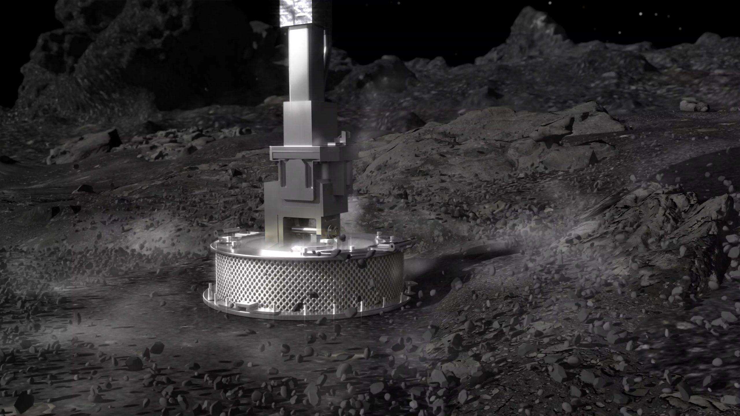 NASA探査機が小惑星ベンヌとの接触に成功、岩石サンプルを採取